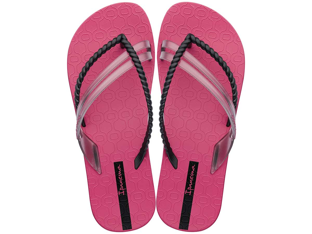 Chinelo Ipanema Like - Rosa/Preto Atacado