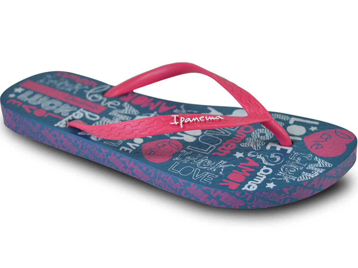 Chinelo Ipanema Lovely II - Azul/Rosa Atacado