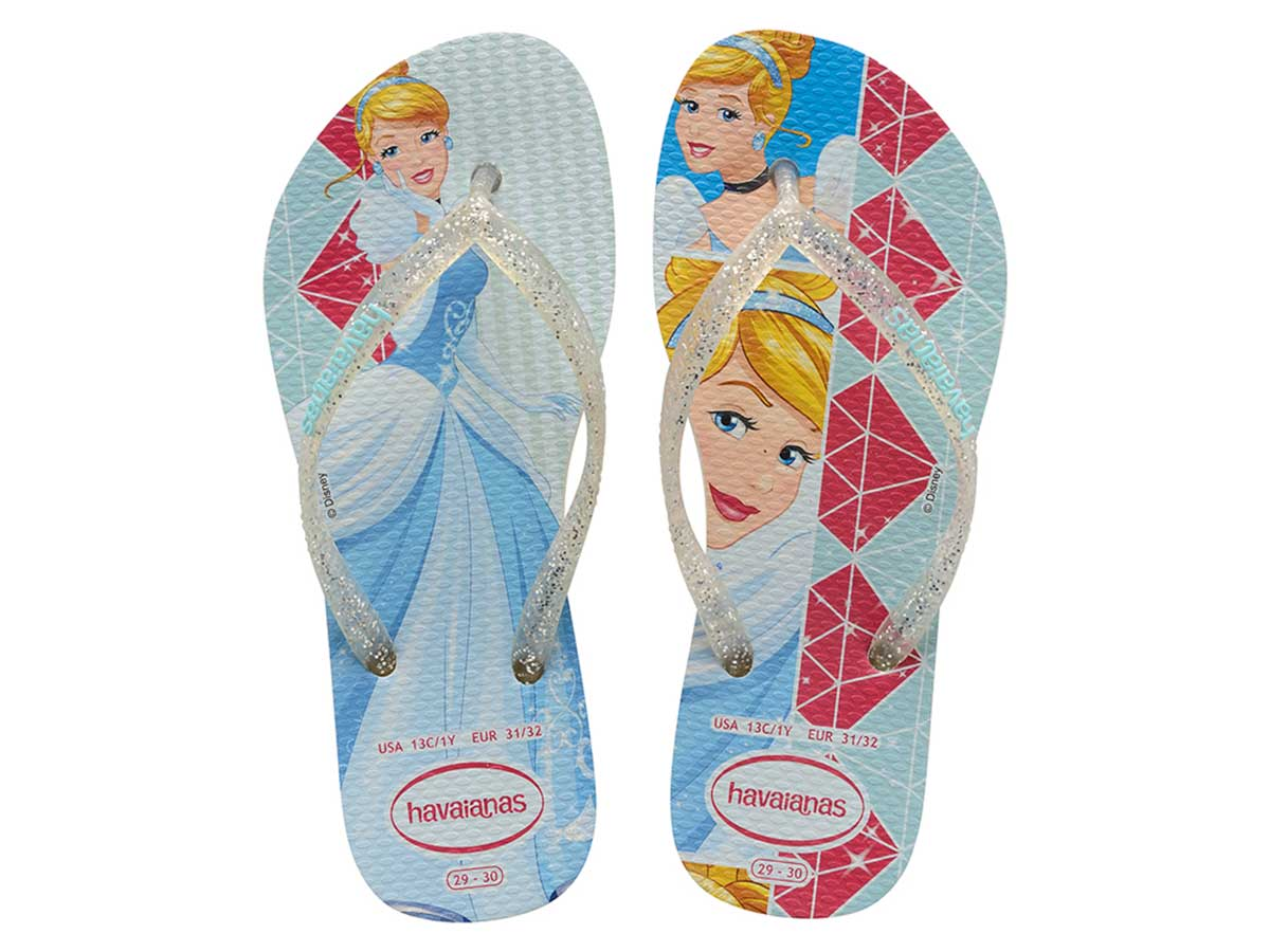 Chinelo Havaianas Slim Princess Kids - Branco/Branco Atacado