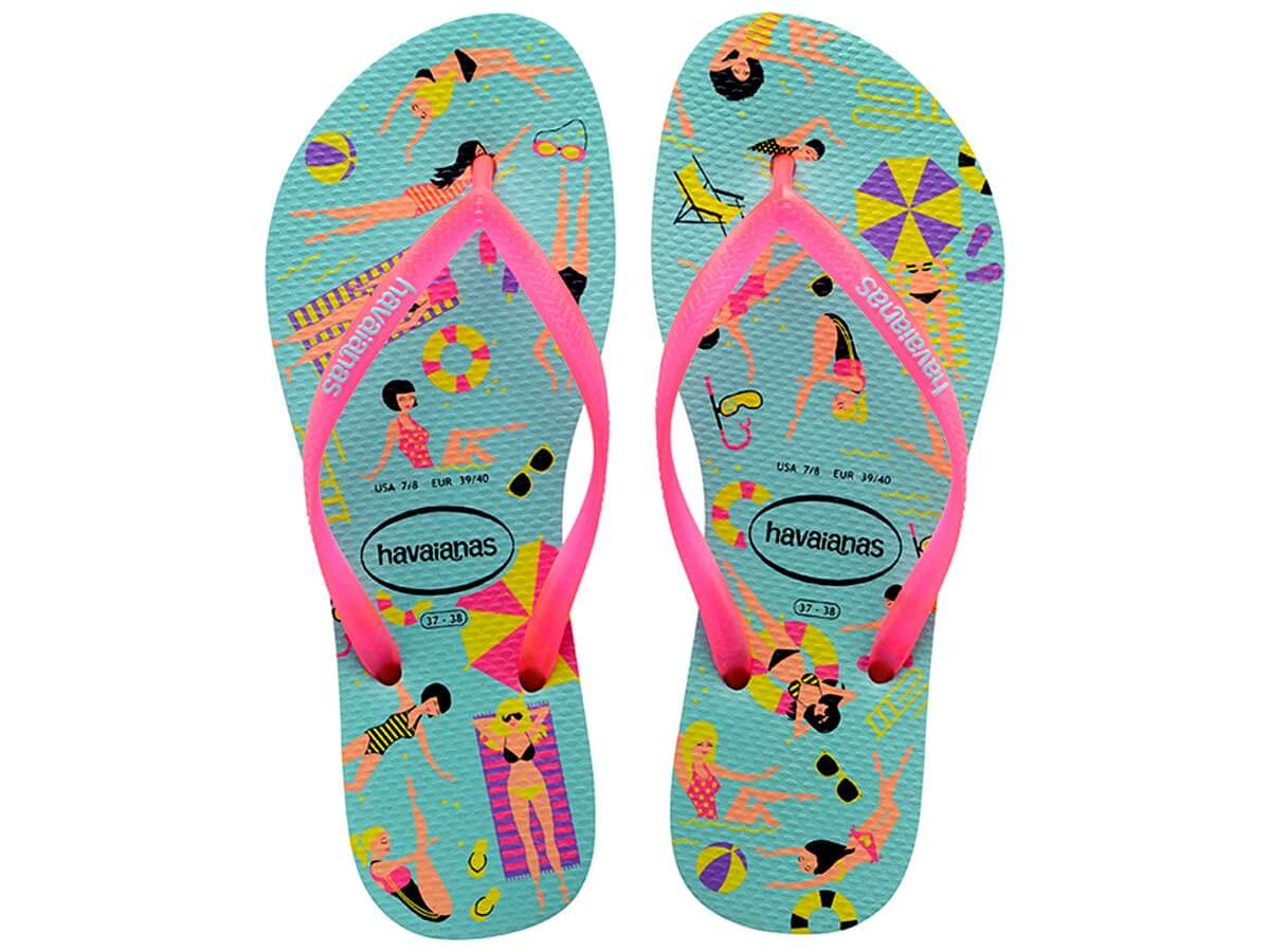 Chinelo Havaianas Slim Cool - Ice Blue Atacado