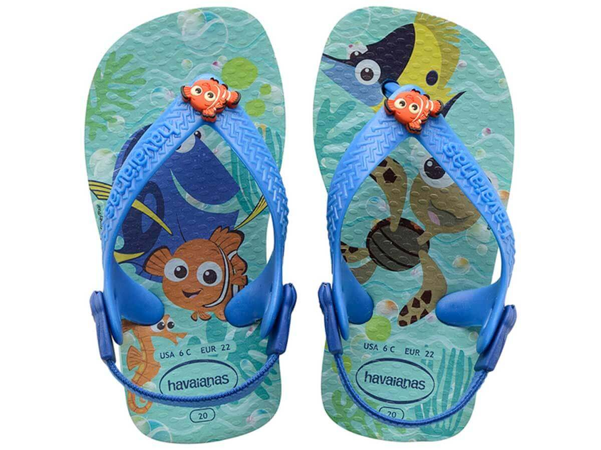 Chinelo Havaianas Baby Disney Cuties - Ice Blue Atacado