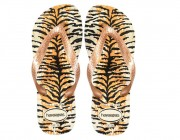 Chinelo Havaianas Top Animals - Bege Palha/Rose Atacado
