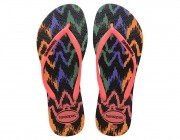 Chinelo Havaianas Slim Tribal - Coral New Atacado